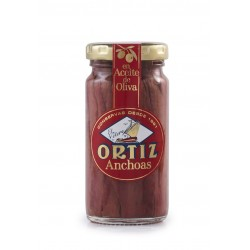 Filets Anchois Huile Olive Bocal Verre 95g
