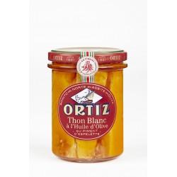 Thon Blanc Germon à l'huile d'olive et Piment d'Espelette Bocal Verre 220g